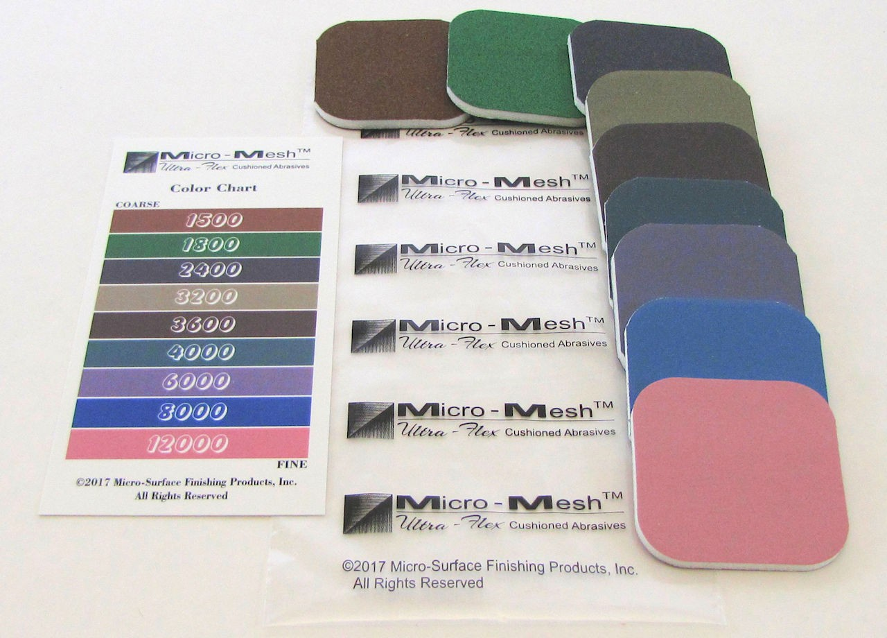 Micro Mesh Soft Touch Pad Variety Packs Abrasives Shop Supplies